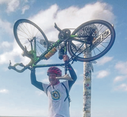 David Balfour has completed the challenge of pedalling right from Land's End to John O'Groats