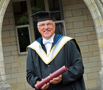 Stanley Jack was made a Master of Aberdeen University in recognition of his 16 years of service