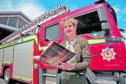 Diana Hamilton-Jones at Fortrose Fire Station