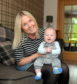 Natalie Whyte pictured at home in Auchleven with her son Callan