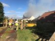 More than 50 firefighters battled the blaze.
