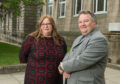 Moray Council's new convener, Shona Morrison, and leader, Graham Leadbitter.