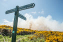 Pictures show the gorse fire at Hopeman/Covesea side in Moray. Picture by JASON HEDGES