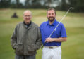 Bryan Fotheringham at Forres Golf Course with his father Richard Fotheringham, also pictured.