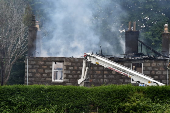 The fire service attended the blaze at Grandholm Bowling Club in Bridge of Don