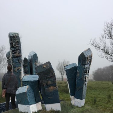 A mock-up of the sculpture that will be erected in Westhill by artist Holger Lonze