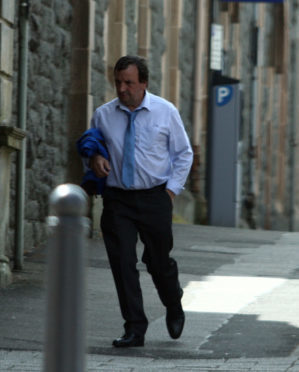 John Connell outside Oban Sheriff Court yesterday
