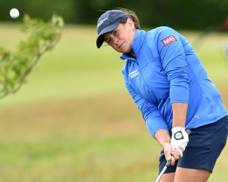 Michele Thomson in action at the Scottish Par 3 Championship