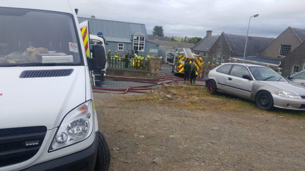 The scene of the fire in Aberchirder