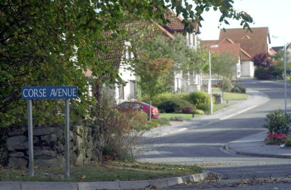 Corse Avenue in Kingswells.