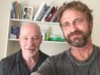 Gerard Butler with Graham Watt, of The Therapy Studio, on Skye