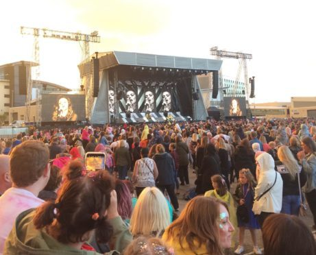 Little Mix played an outdoor concert in Aberdeen last year
