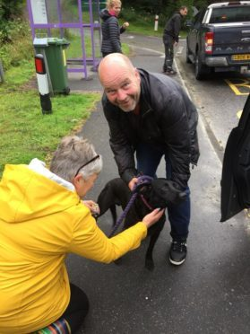 Molly is reunited with owner Paul Prichard following the appeal on social media