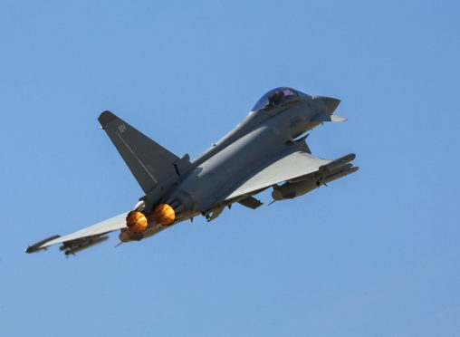 Typhoons from RAF Lossiemouth.