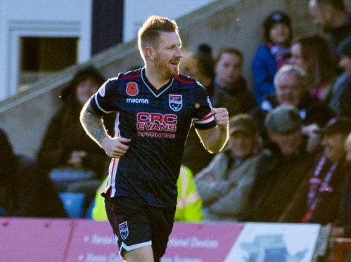 Michael Gardyne scored Ross County's second goal.