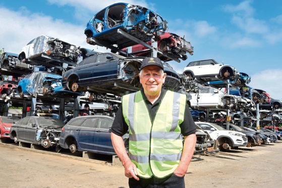 Sandy Dalgarno at Overton Vehicle Dismantlers.