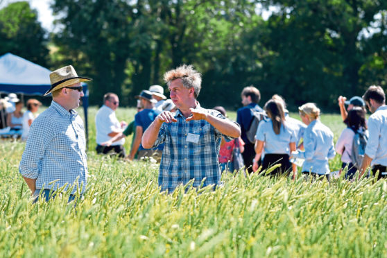 Delegates look round the UKs largest on-farm organic event at Green Acres Farm in Shifnal.