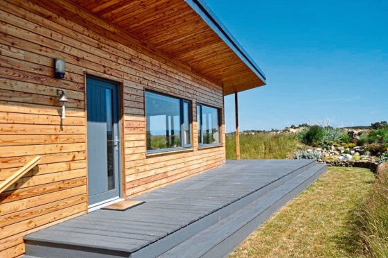 The eco-chalet is part of an exclusive development just minutes away from the village of Findhorn and its beaches