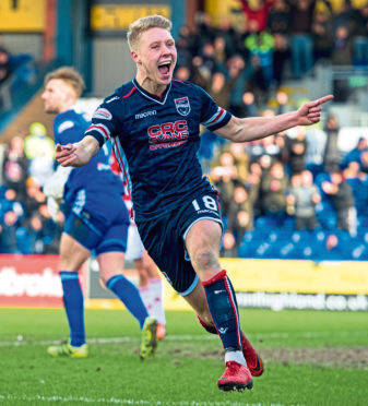 Ross County midfielder Jamie Lindsay.