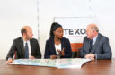 Photo L-R: Jamie Murphy, Operations Director, Texo Compliance, Ms NneNne Iwuji-Eme, British High Commissioner to the Republic of Mozambique, James Murphy, Managing Director, Texo Compliance