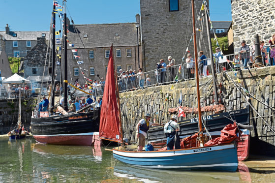 Portsoy Harbour during last year's Traditional Boat Festival.