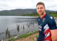 Ross County yesterday launched on the shores of Loch Ness their new strip for the forthcoming season. Picture by Sandy McCook.