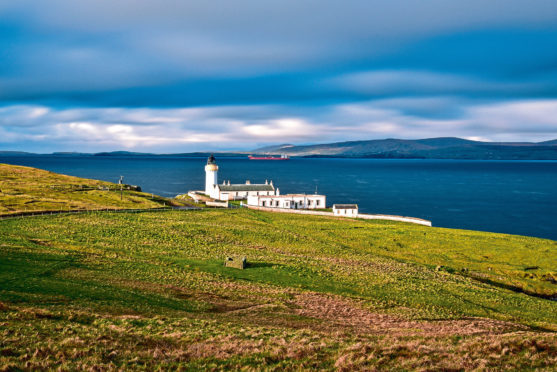 Shetland's Bressay lighthouse looks over the expanse of sea