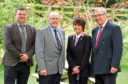 Last year's winners - Duncan Morrison, David Brown, Lorna Paterson and Pat Machray.