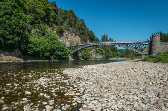 Concerns have been raised about the water level on the River Spey.