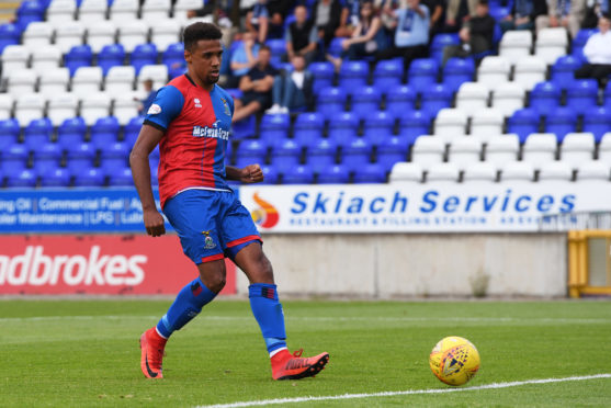 Caley Thistle attacker Nathan Austin.