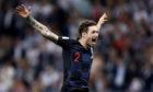 Sime Vrsaljko of Croatia celebrates victory after the semi-final