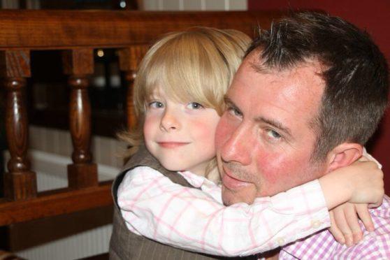 Craig Emslie with his son Gabriel-Shane