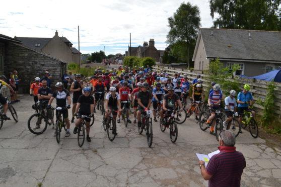 180 riders took part