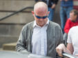 David Brien leaving Elgin Sheriff Court.