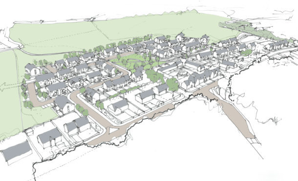 An overhead sketch of the planned development