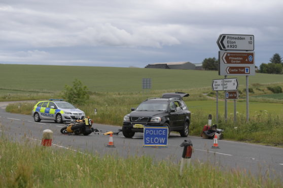 Scene of the crash on the A947.