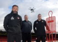 The Dons training sessions will now be watched over using Drone.