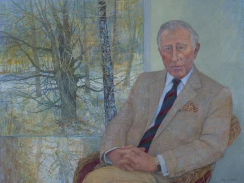 Victoria Crowe's portrait of Prince Charles.