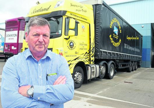 Managing Director, Derek Mitchell of Caledonian Logistics, Oldmeldrum.  Picture by Jim Irvine