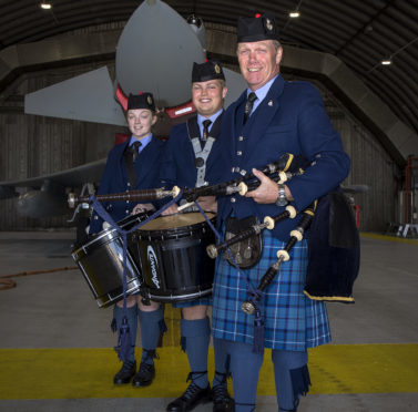 RAF Lossiemouth in support of the RAF 100 parade.