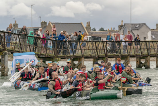 Teams were invited to design their rafts to celebrate the RAF's centenary.