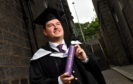 Edward Pollock graduated from RGU yesterday