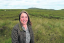 Chairwoman of the Melness Crofters Estate photographed close to the site of the proposed spaceport on A'Moine to the west of Tongue.