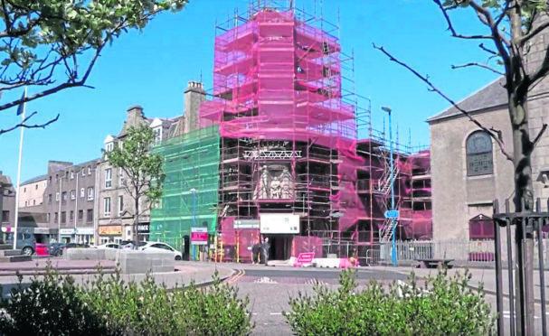 The Faithlie Centre in Fraserburgh is slowly taking shape.