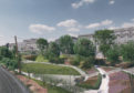 Artist's impression of the regenerated Union Terrace Gardens.