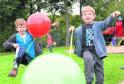 Joseph Love, nine, and Ben Love, seven, at 2017 Seaton Parkfest.