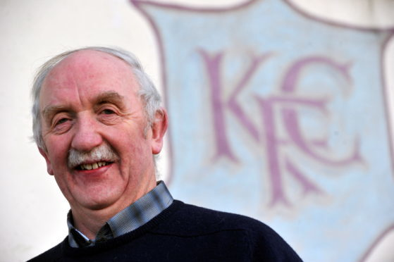 Sandy Stables was a member of Keith FC's committee for 49 years.