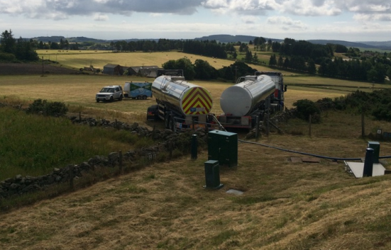 Scottish Water has deployed dozens of emergency tankers to top up supplies