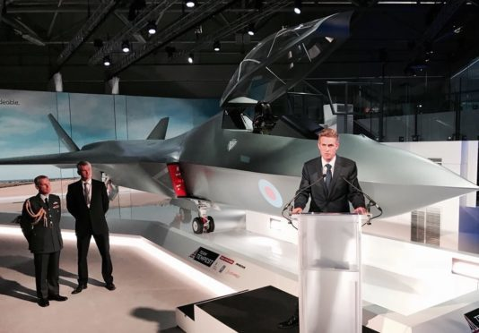 Britain showcases fighter of the future