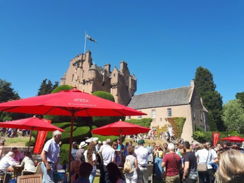 Thousands of people flocked to Crathes Castle for the BBC's Antique Road Show as they set up filming for two new episodes.